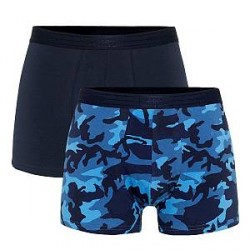 WESC 2-pak Stan Camo Boxer Brief - Navy pattern - Large * Kampagne *