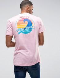 Wetts Back Print Venice Beach T-Shirt - Pink