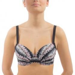 Wiki Santa Lucia Balconette Bikini Top - Black pattern-2 * Kampagne *