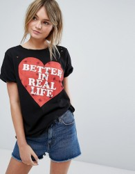Wildfox Better in Real Life T-shirt - Black