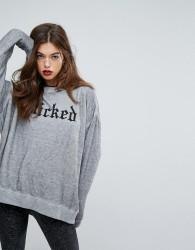 Wildfox Gothic Wicked Sweatshirt - Grey