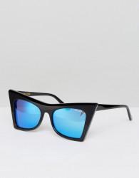 Wildfox Ivy Deluxe Mirror Lens Sunglasses - Black