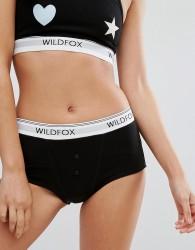 Wildfox Logo Tom Boy Brief - Black