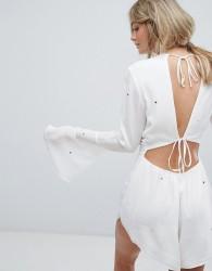 Wildfox Star Print Playsuit - White