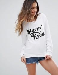 Wildfox Starry Eyed Baggy Beach Sweatshirt - White