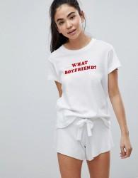 Wildfox Valentines What Boyfriend Lounge T-Shirt - White