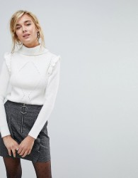 Willow And Paige Jumper With Roll Neck - Cream