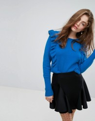 Willow and Paige Jumper With Ruffle Trim - Blue