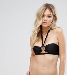 Wolf & Whistle Ring Detail Bikini Top B-F Cup - Black