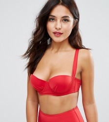Wolf & Whistle Slinky Strappy Back Bikini Top B-G Cup - Red