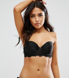 Wolf & Whistle Textured Lace Cupped Bikini Top B-G Cup - Black
