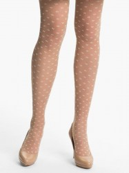 Wolford - Mini Fleur Tights - sahara/white