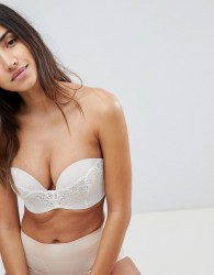 Wonderbra Refined Glamour Ultimate Strapless Lace Bra A - G Cup - Beige
