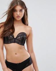 Wonderbra Refined Glamour Ultimate Strapless Lace Bra A - G Cup - Black