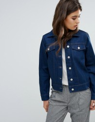 Wood Wood Kasi Clean Workers Denim Jacket - Blue