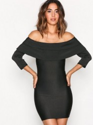 WOW Couture Off-Shoulder Bandage Dres Kropsnære kjoler Black