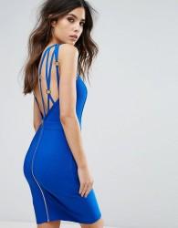 WOW Couture Strap Detail Bandage Dress - Blue