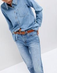 Wrangler western leather belt - Yellow