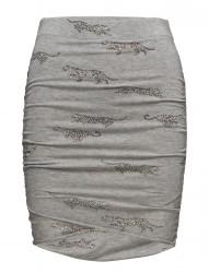 Wrap Mini Skirt Leopards All Over