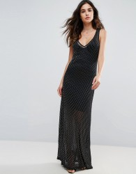 Wyldr Celeste Sands Mesh Maxi Dress With Seperate Slip - Silver