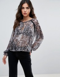 Wyldr Dust In The Wind Snake Charmer Printed Blouse - Multi