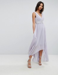 Y.A.S Andra Lilac Lace-Up Dress - Purple