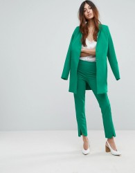 Y.A.S Cigarette Pant With Hem Detail - Green