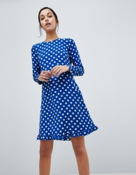 Y.A.S Dotti Polka Dot Dress - Navy