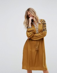 Y.A.S Dress With Embroidery - Yellow