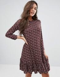 Y.A.S Drop Waist Dress With Long Sleeve - Purple