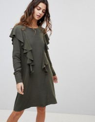 Y.A.S Gina Ruffle Front Dress - Green