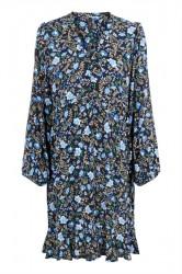 Y.A.S - Kjole - Thistle 7/8 Dress - Navy Blazer