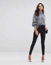 Y.A.S Leather Legging - Black