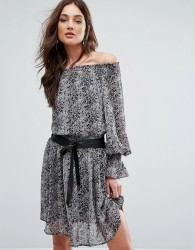 Y.A.S Off-Shoulder Python Dress - Multi