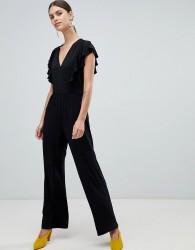 Y.A.S Samba Wrap Front Jumpsuit - Black