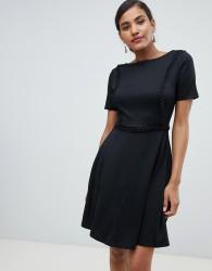 Y.A.S Stapey lace up trim dress - Black