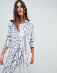 Y.A.S Stripe Summer Double Breasted Blazer Co-Ord - Multi