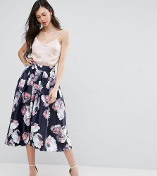 Y.A.S Studio Tall Aliana Full Prom Midi Skirt In Floral Print - Multi