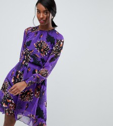 Y.A.S Tall bloom midi dress in purple - Multi
