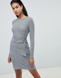 Y.A.S Tallo knot side dress - Grey