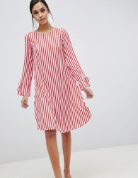 Y.A.S Trey Striped Dress - Red