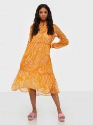 Y.A.S Yasswirly 3/4 Midi Dress S. Langærmede kjoler