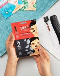 Yes To Tomato Charcoal 2-Step Nose Strip Kit - Clear