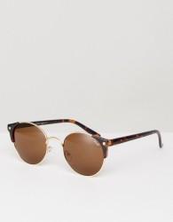 YHF Cashton Round Sunglasses In Black - Pink