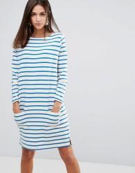 YMC Breton Stripe Shift Dress - White
