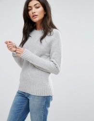 YMC Moss Merino Wool Cashmere Mix Knit Jumper - Grey