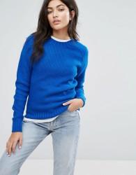 YMC Moss Merino Wool Cashmere Mix Knit Jumper - Navy