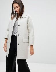 YMC Neoprene Wool Blend Coat - Cream