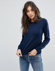 YMC Panelled Knit Jumper - Navy