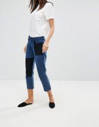 YMC Patchwork Boyfriend Jeans - Navy